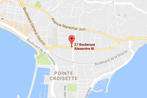 Plan d'accès - Cabinet à Cannes